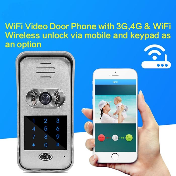 China Ebell WiFi Video Doorbell Camera with Password Panel