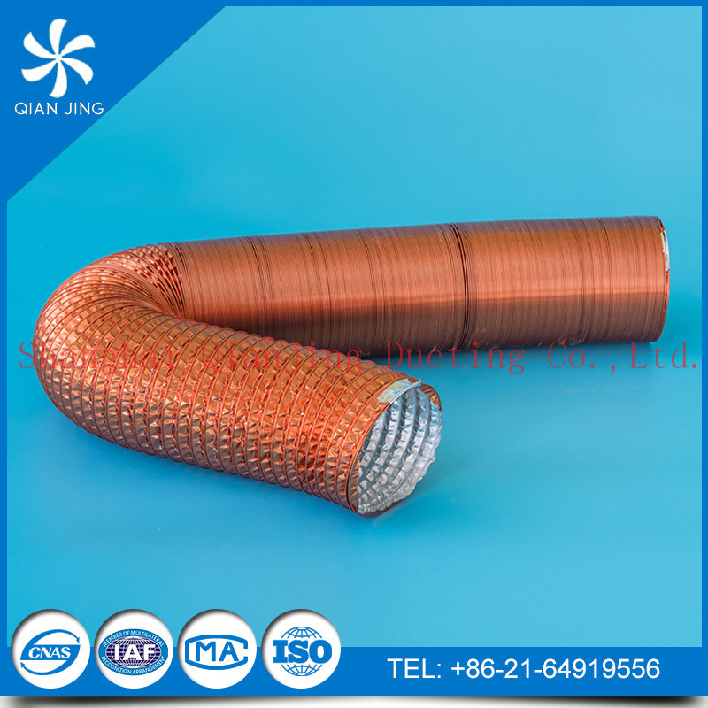 China Fire Resistant Aluminum Flex Duct/Aluduct with Copper Color ...
