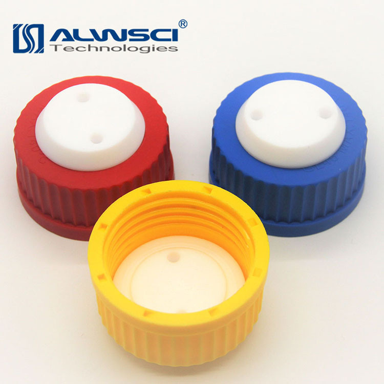 [Hot Item] Plastic Screw Safety Gl45 Cap with Three Holes for 1/8