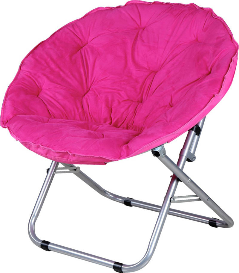 China Hot Sale Foldable Fashionable Outdoor Furniture Indoor Leisure Beach Camping Folding Moon Chair China Moon Chair Folding Round Chair