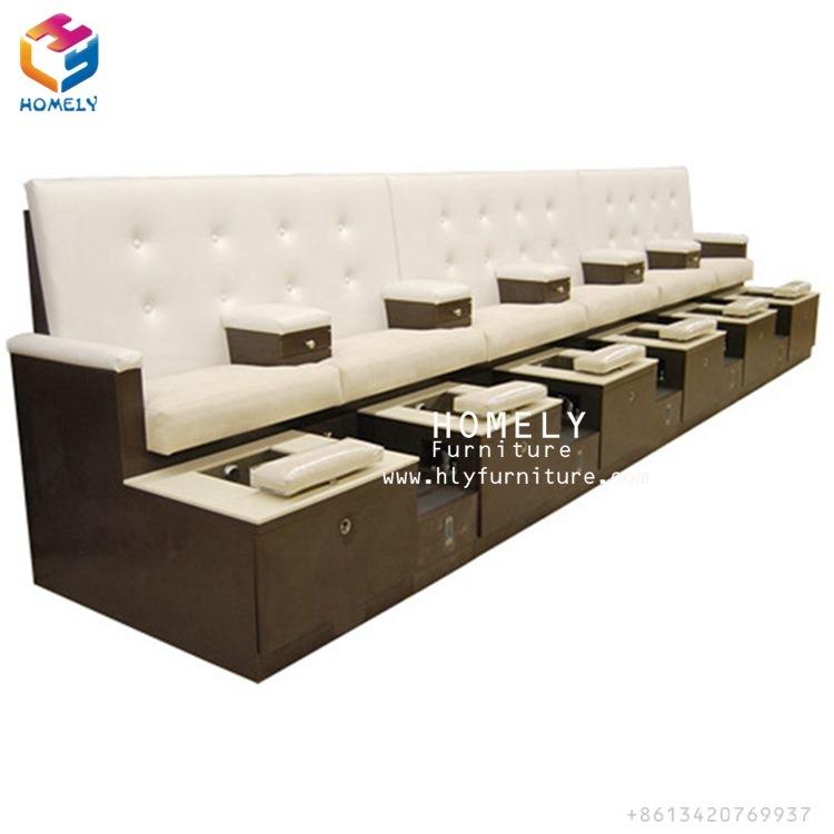China Luxury Nail Salon Furniture Pedicure Bench Massage SPA ...
