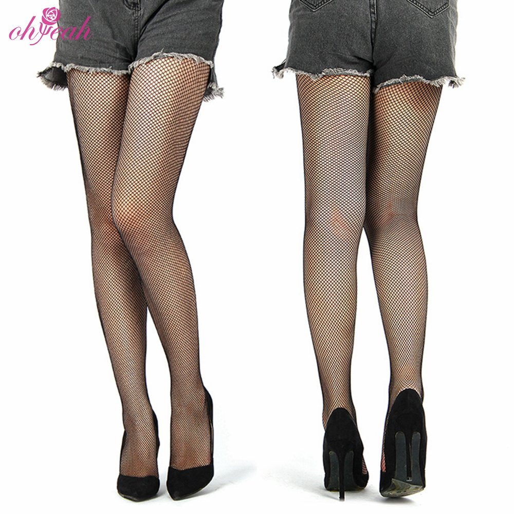 Pantyhose Club [hot item] hollow out sexy pantyhose black women tights stocking club party female mesh hosiery fishnet stockings