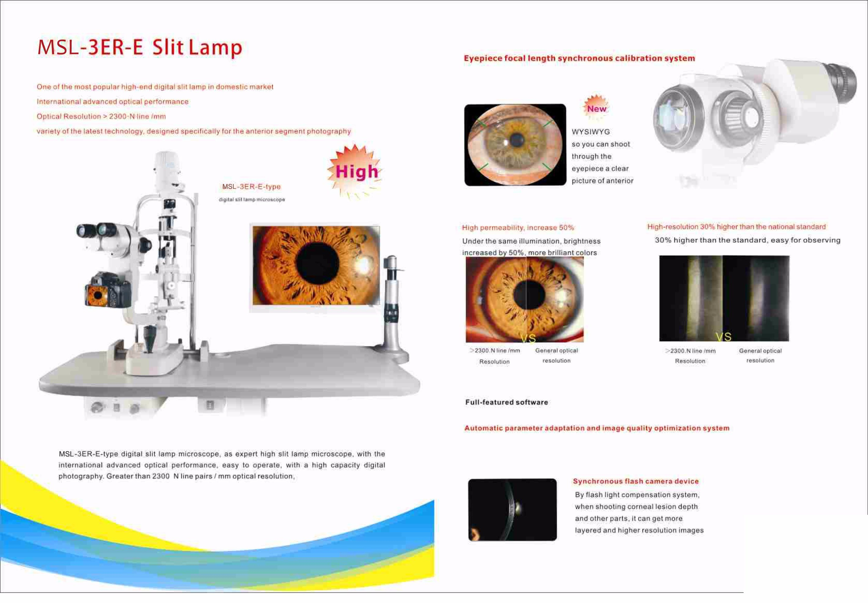 [Hot Item] Digital Slit Lamp Microscope/Slip Lamp with Digital Slit Lamp  Microscope, Ophthalmic Equipment