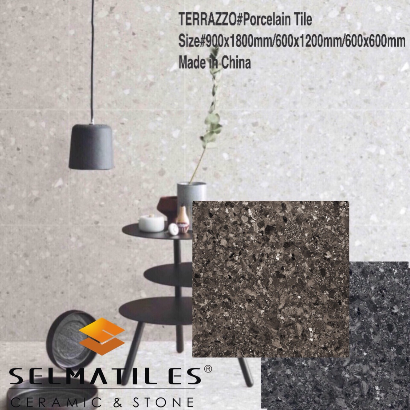 Hot Item Salerno Terrazzo Building Material Porcelain Floor And Wall Tile 600x1200mm