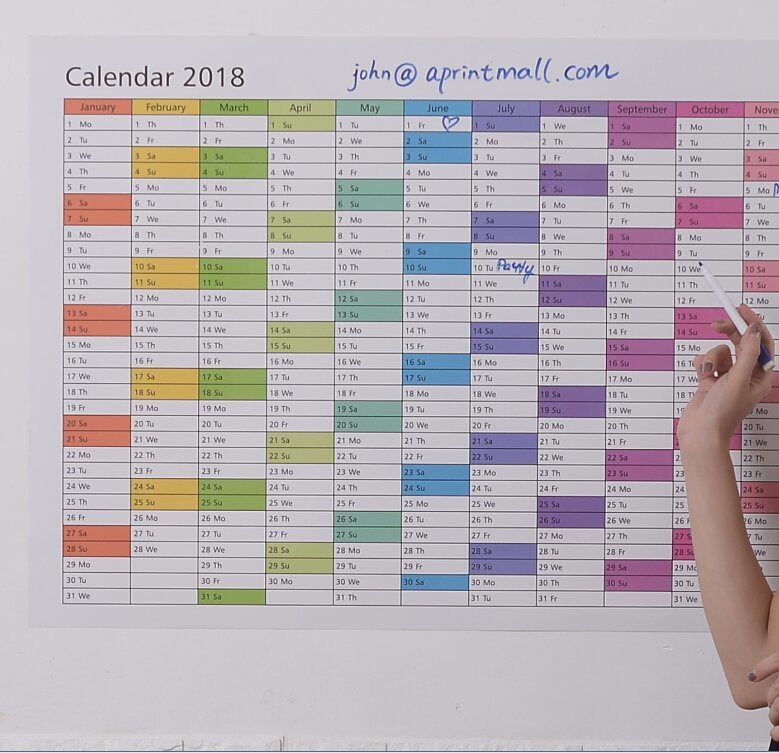 china 2018 blank 12 month jumbo wall planner photos pictures