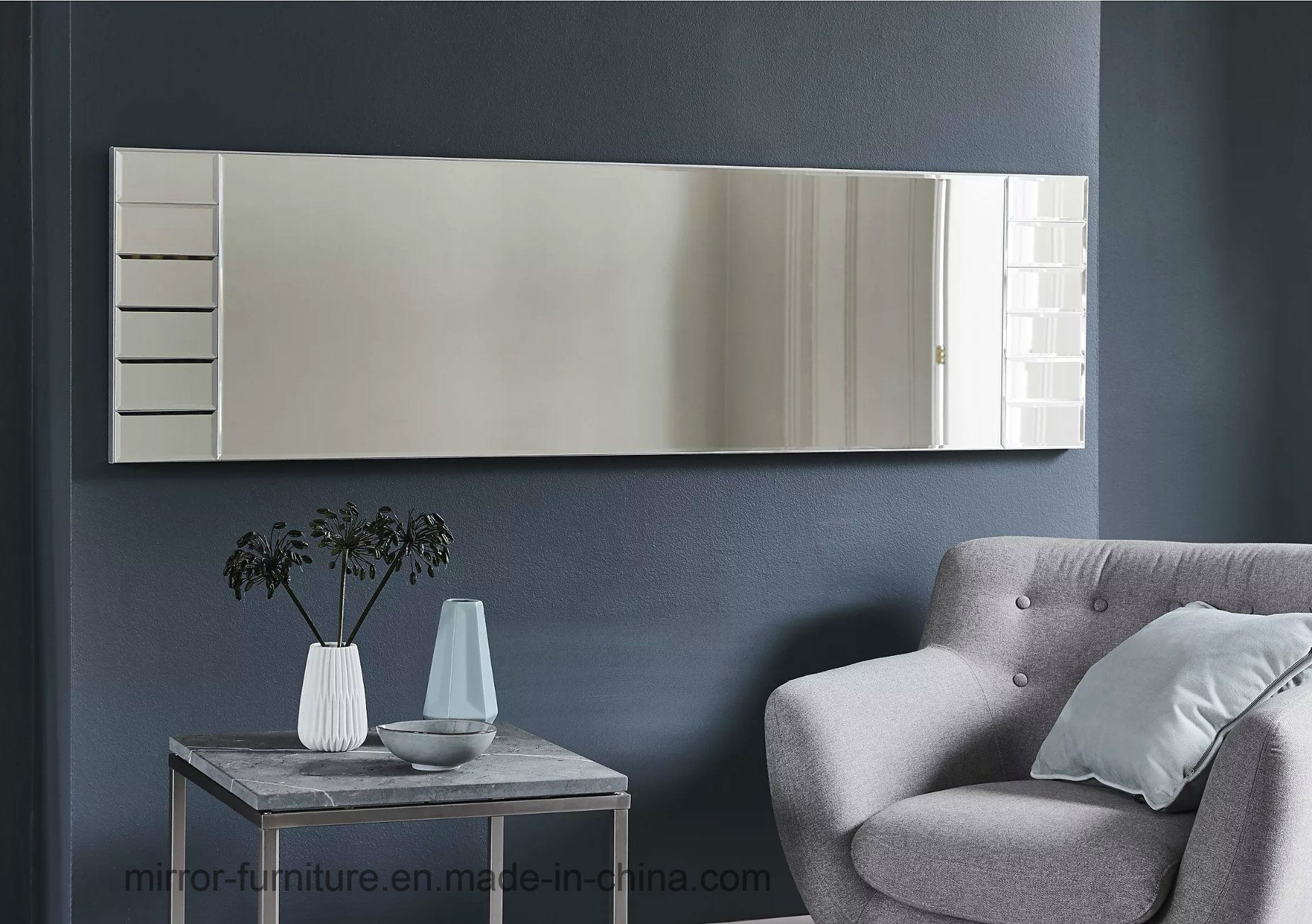China Unique Oem Living Room Long Rectangle Wall Mirror Floor Mirror China Feature Floor Mirror Big Size Mirror