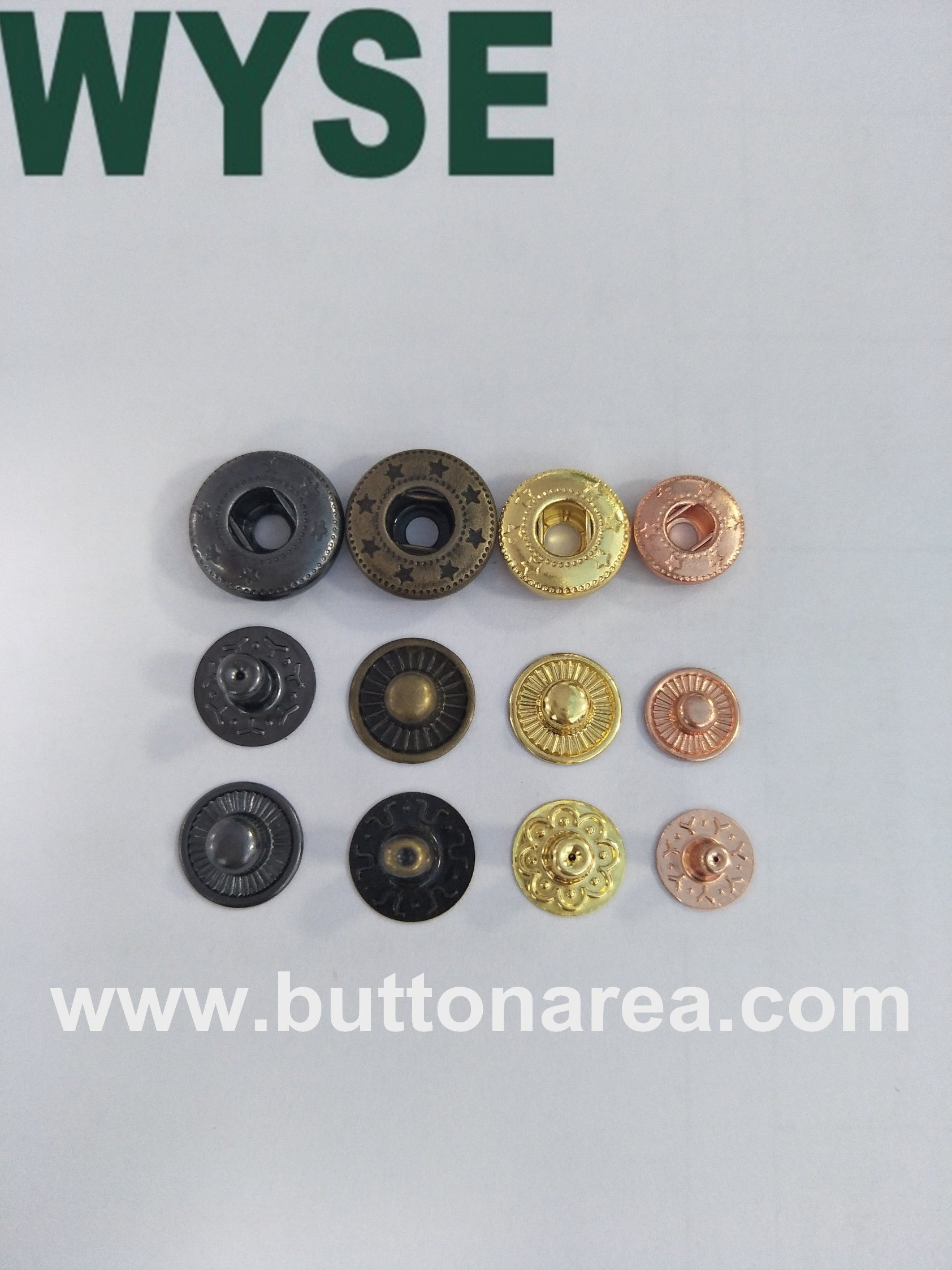 China Spring Snap Fasteners Buttons with Colorful Painted Photos