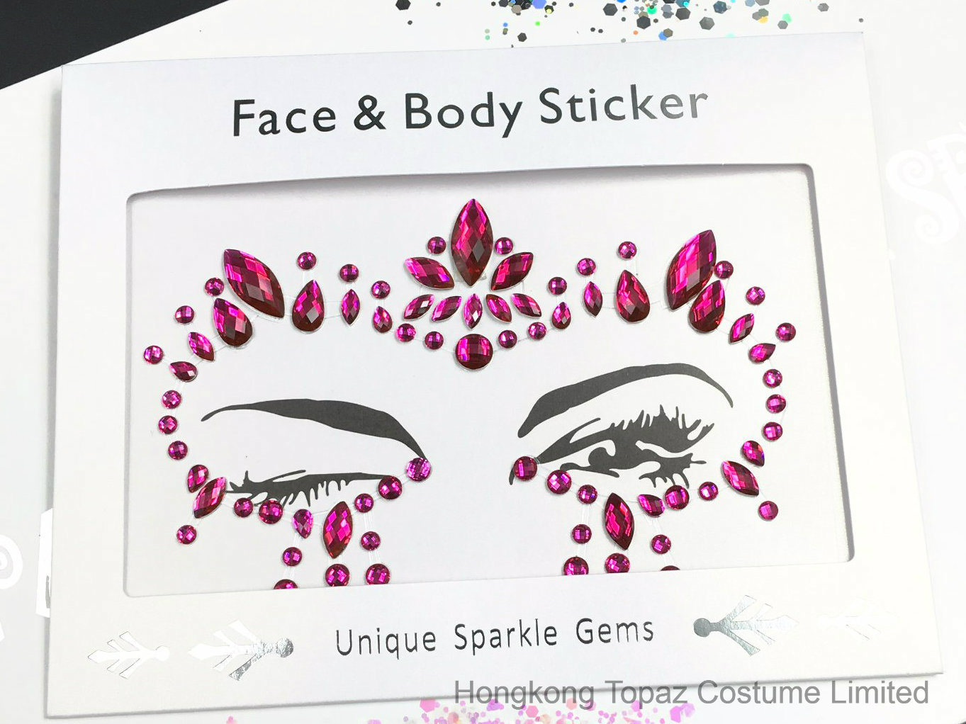 Sparkle custom fashion adhesive body jewelry face gem stickers sr 07