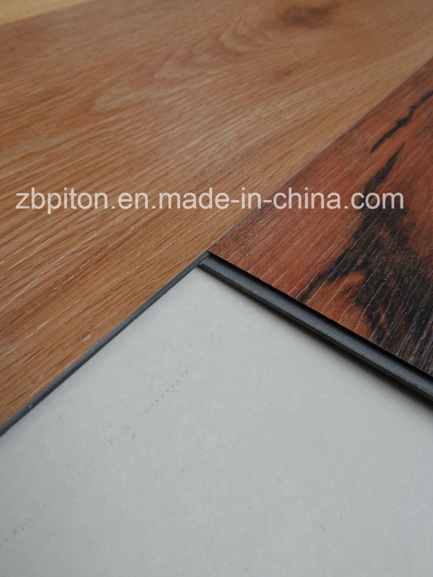 China Interlocking Plastic Floor Tile Lvt Pvc Vinyl Planks Cng0256n