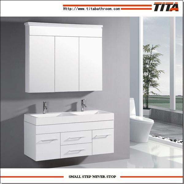 China High Gloss White Mdf Bathroom Vanity Bath Vanity Double Sink Bathroom Vanity Tm8254 China Mdf Bathroom Vanity Bath Vanity