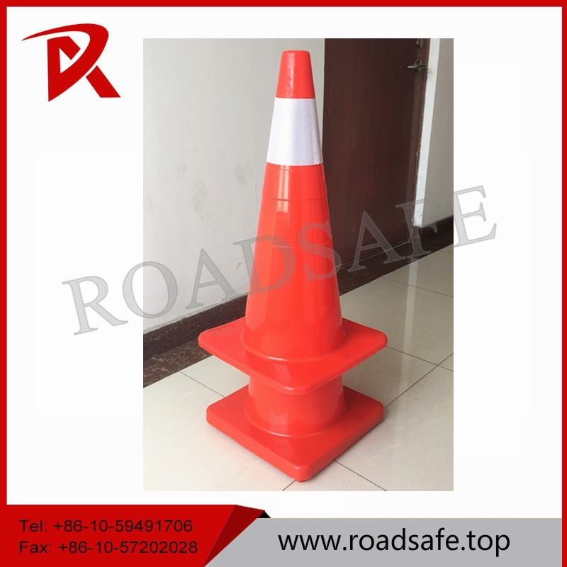 Fluorescent Orange Soft Flexible Safety Colored Inflatable PVC Traffic Cone