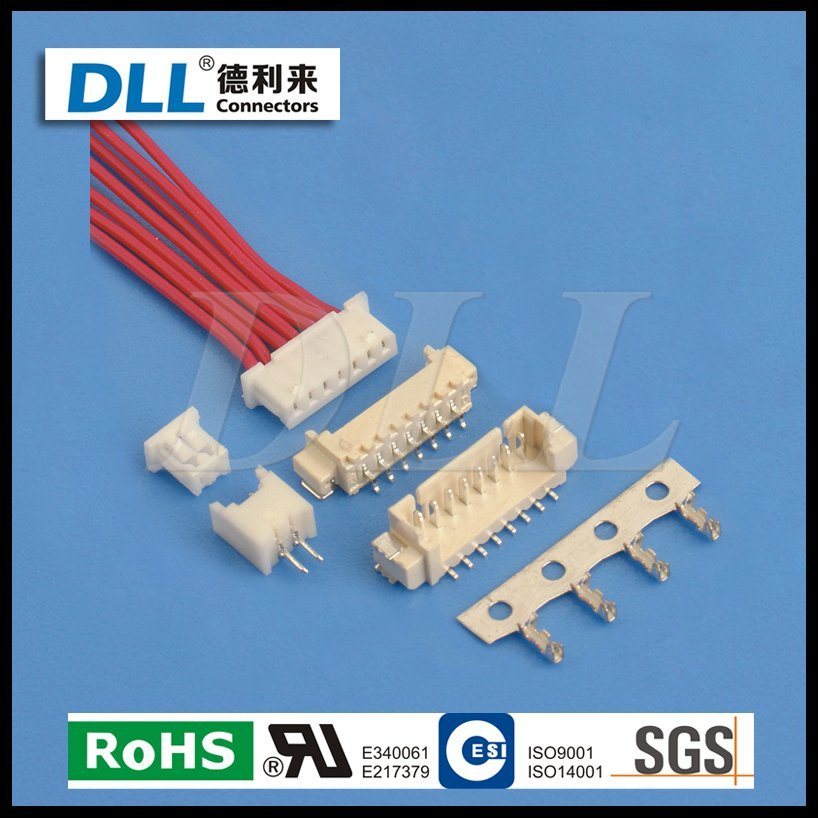 China Mh 1.25mm Pitch Connector Wire to Board 2 Pin 3pin 15pin ...