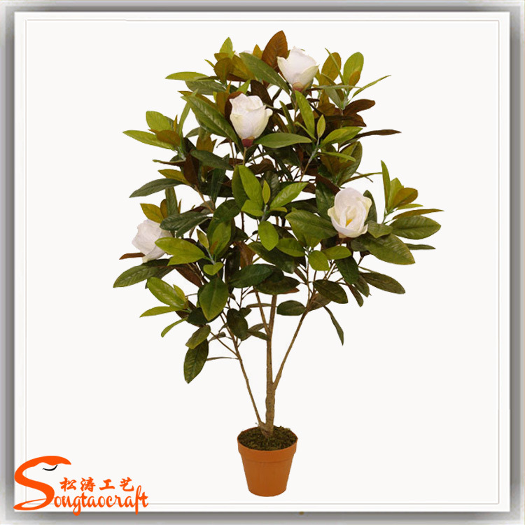 China Wedding Decoration Artificial Magnolia Flower Tree Bonsai China Artificial Tree And Bonsai Price