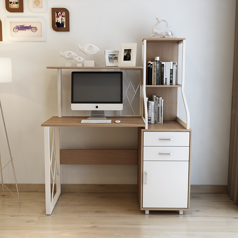 China Small Wooden Computer Desk With Drawer And Shelf In Study