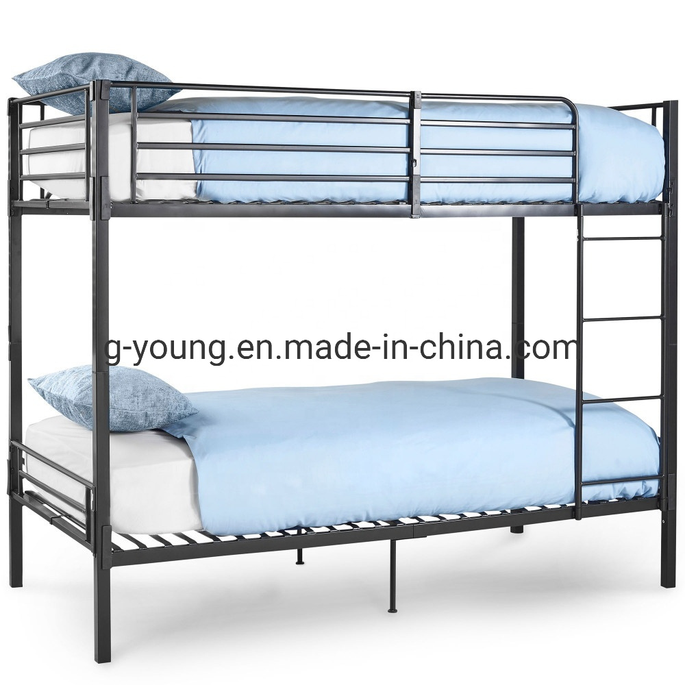 China Heavy Duty Detachable Metal Frame Adult Double Steel Bunk Bed China Bunk Bed School Metal Bed