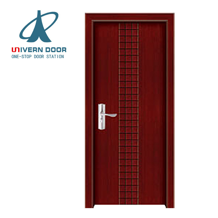 China Latest Design Wooden Door Interior Door Hotel Room Melamine