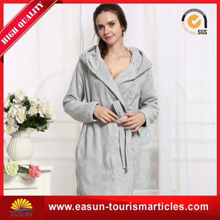 China Extra Thick Micro Fiber Bathrobe with Custom Embroidery Logo  (ES3052313AMA) - China Cotton Bathrobe c21096ea4