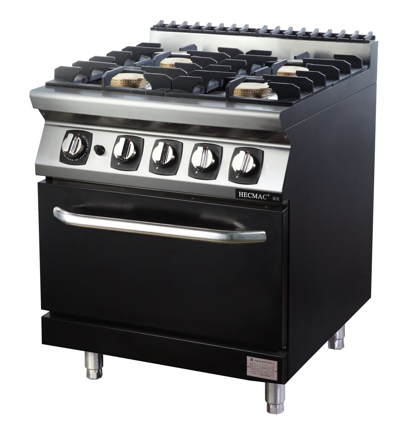 Four Burner Gas Stove With Cabinet