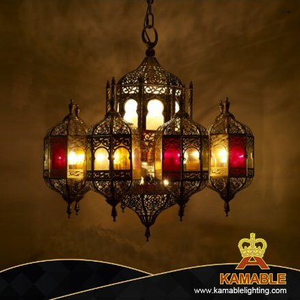 China Interior Decoration Arabic Style Brass Moroccan Chandelier Lamp 009 China Chandelier Customize Chandelier