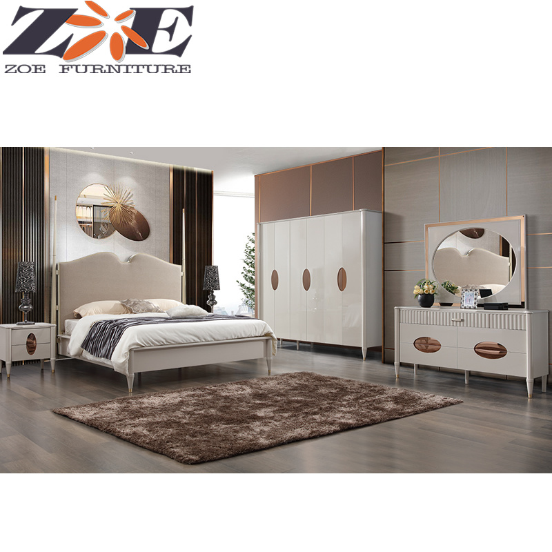 China Foshan New Model Hot Sale Mdf And Solid Wood King Bedroom Furniture Beds China Mdf Furniture King Bed