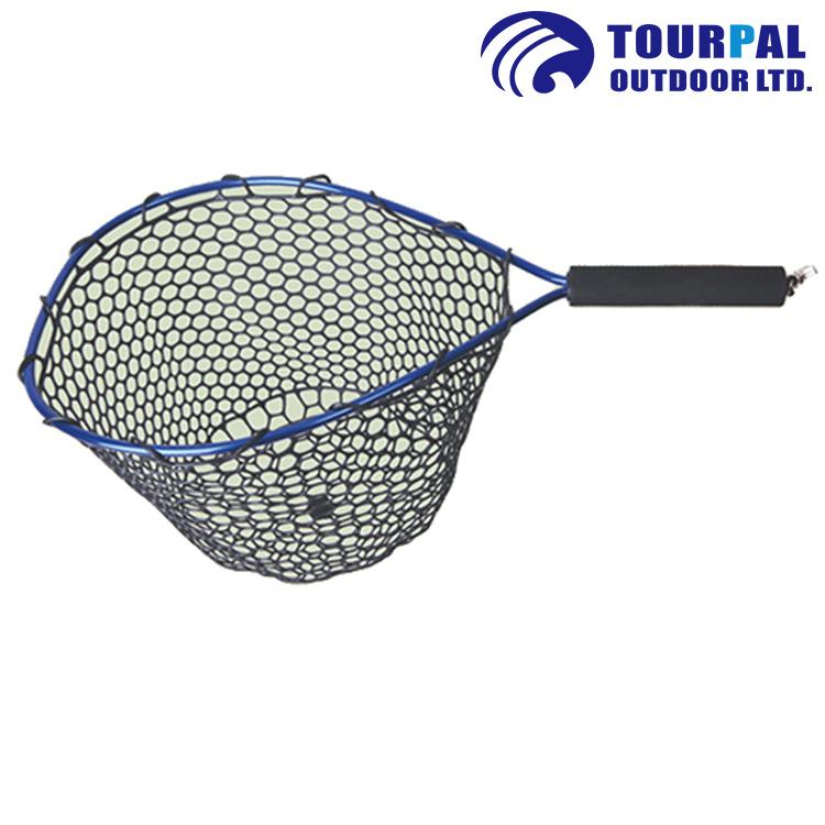 Fishing Tools Nylon Net Mesh Hole Depth Folding Landing Dip Net 3 sizes GL