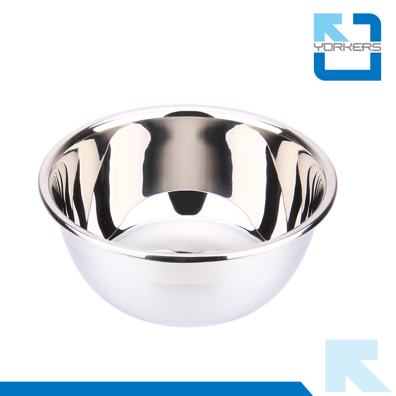 Multi-Size Stainless Steel Thickened Deep Salad Mixing Bowl Set