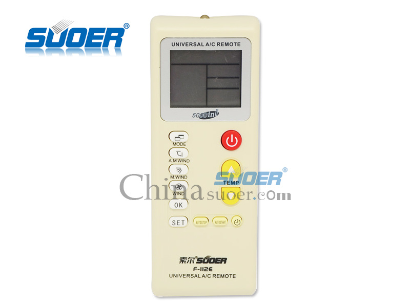 Air Conditioner Remote Control Universal A/C Remote Control 5000 in 1  (F-112E)