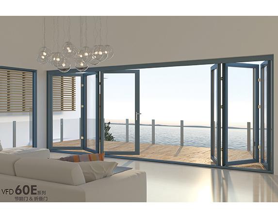 China Commercial Exterior Double Folding Doors / Aluminium Folding ...