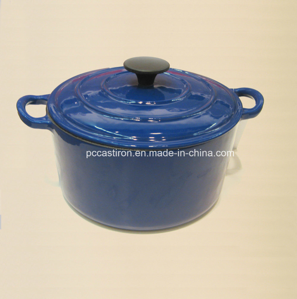 Enamel Cast Iron Casserole Cookware with Cover Dia 24cm 28cm pictures & photos