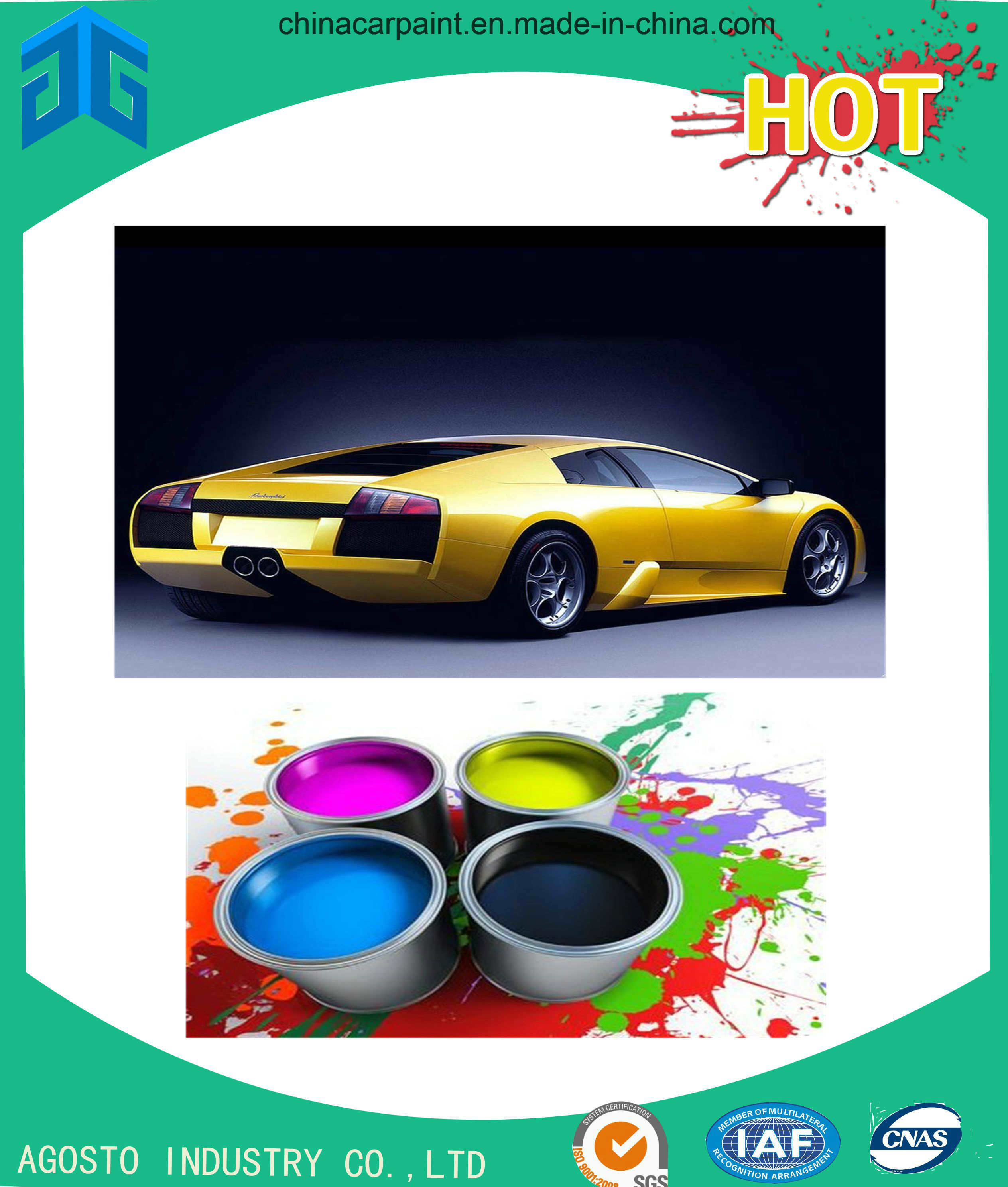 Colorful Automotive Paint for Refinishing pictures & photos