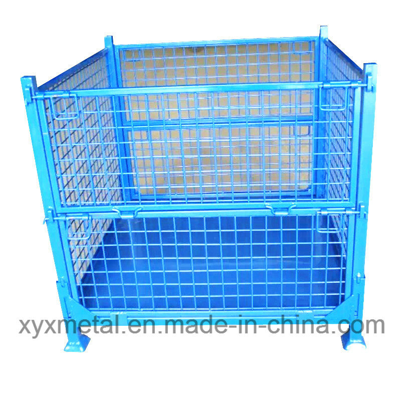 China Exported Warehouse Folding Storage Metal Stacking Wire Mesh ...