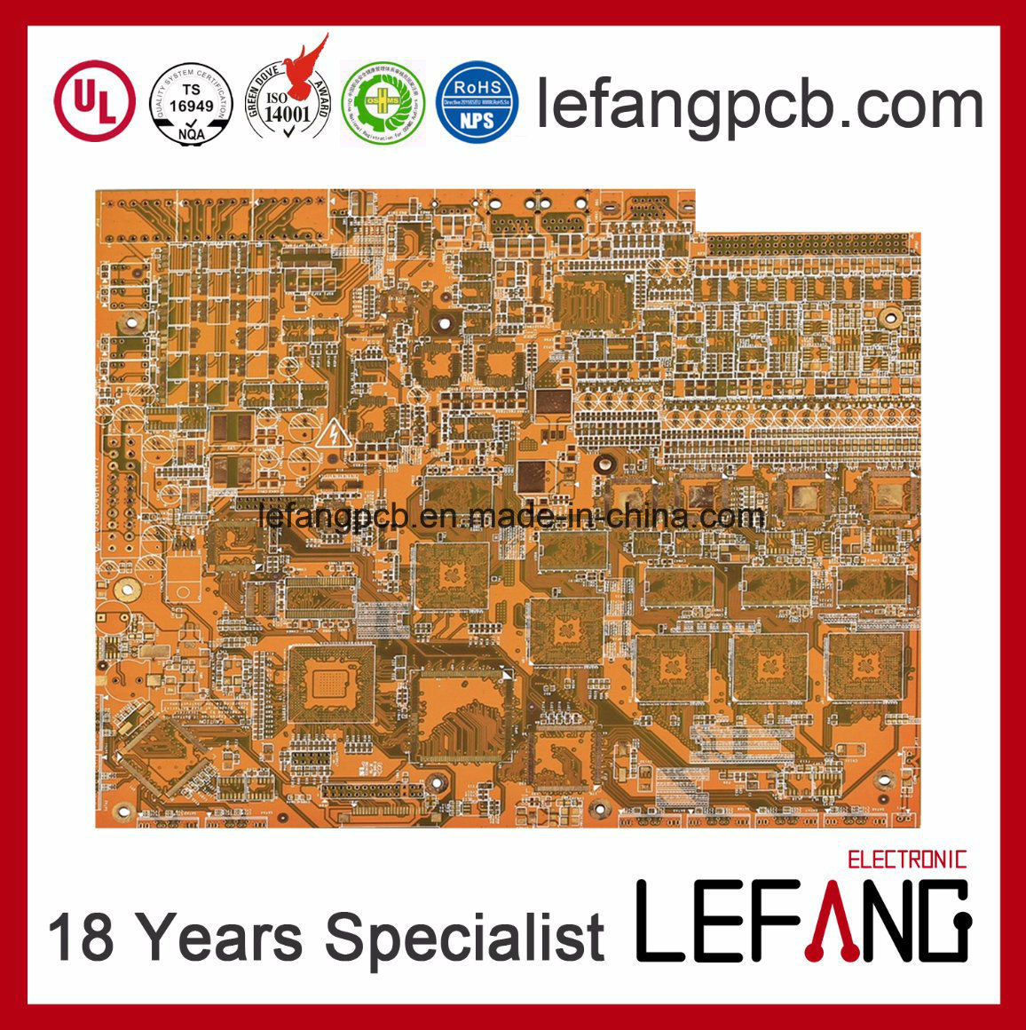 China Multilayer Enig Gold Industrial Control Motherboard Pcb Wiring Board Electronics Circuit Main