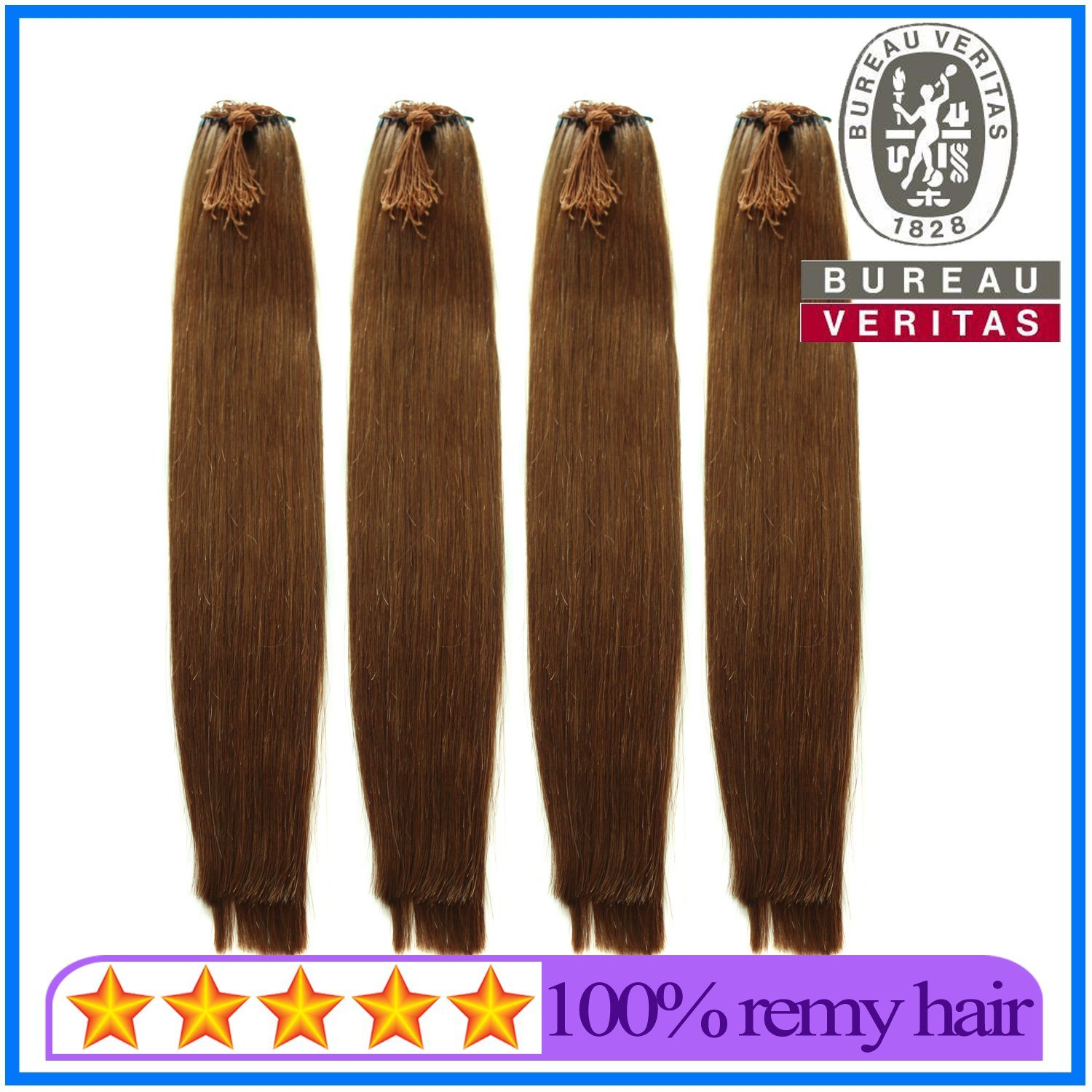 China New Design Elastic Thread Knot 18 Inch Human Hair Extensions