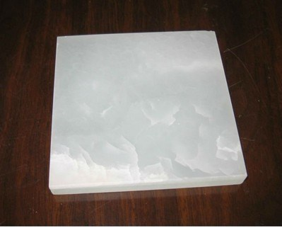 China Translucent Flooring Snow White Onyx Granite Slab