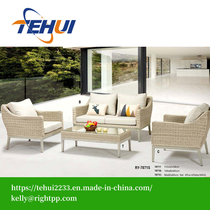 [Hot Item] Modern Leisure Garden Patio Outdoor Wicker Sofa Sets Sectional  Rattan Sofa Furniture and Living Room Furniture