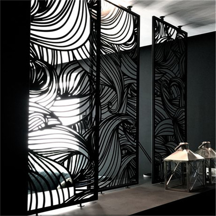 Contemporary Metal Wall Decor Stainless Steel Room Parion Screens