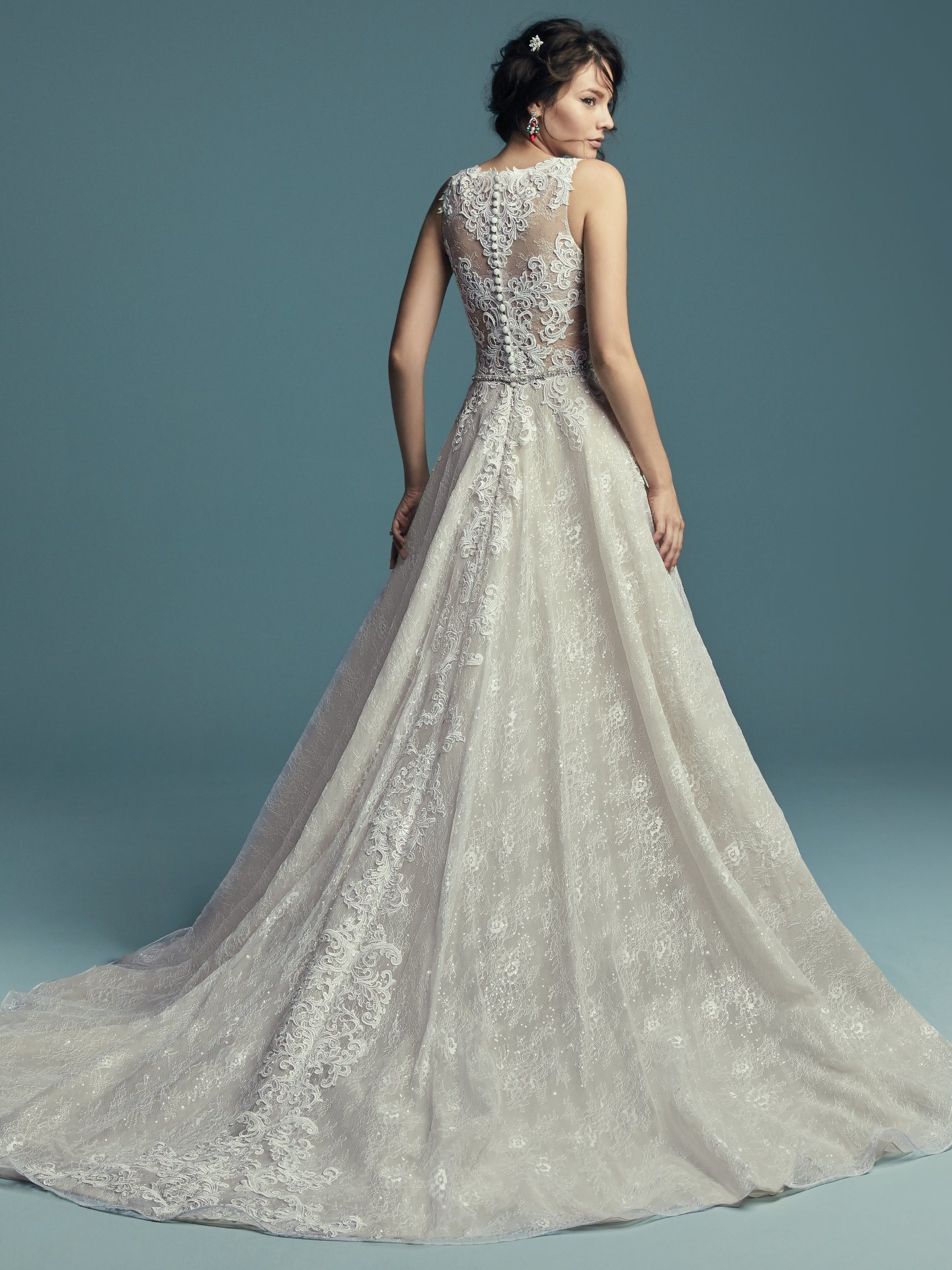 China 2019 Lace Wedding Dress A Line Sleeveless Bridal Wedding Gown