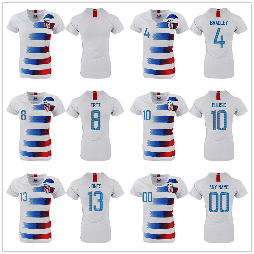 los angeles bc13f 3b2e4 [Hot Item] America Home Soccer Jersey 10 Pulisic United States Home Soccer  Shirt USA