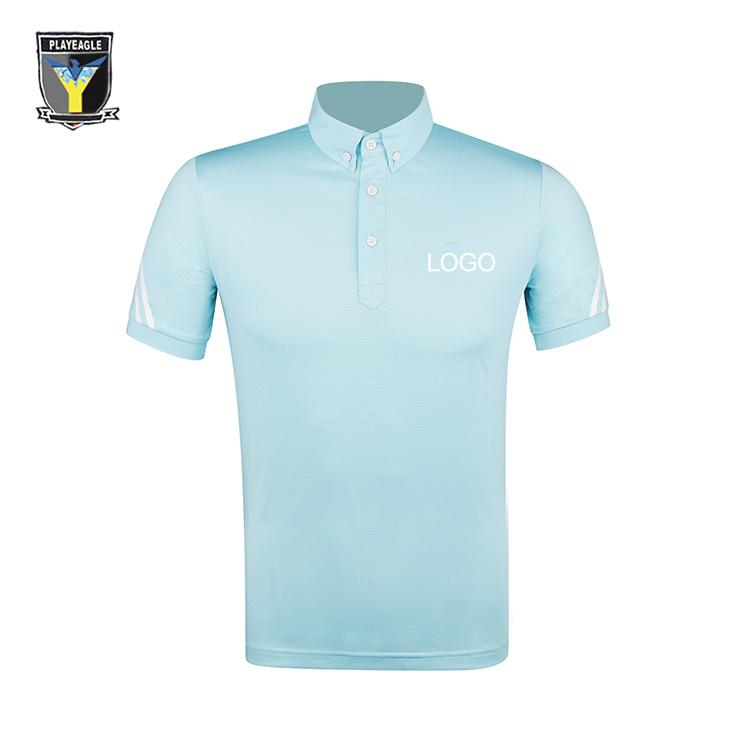 Hot Item Customized Logo Pe Golf Polo Short Sleeved Shirt