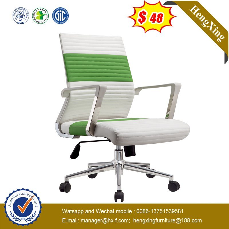 [Hot Item] Modern White Green Color Gaming Play Office Swivel Leather  Executive Chair