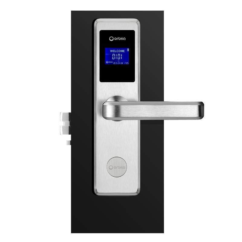 [Hot Item] Orbita Professional Hotel Card Reader Door Lock System Hotel  Wooden Door Handle Locks with Free Software