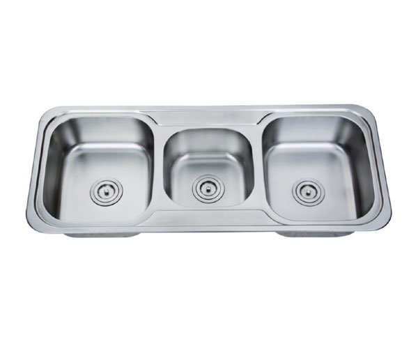 Stainless Steel Top Mount Triple Bowl