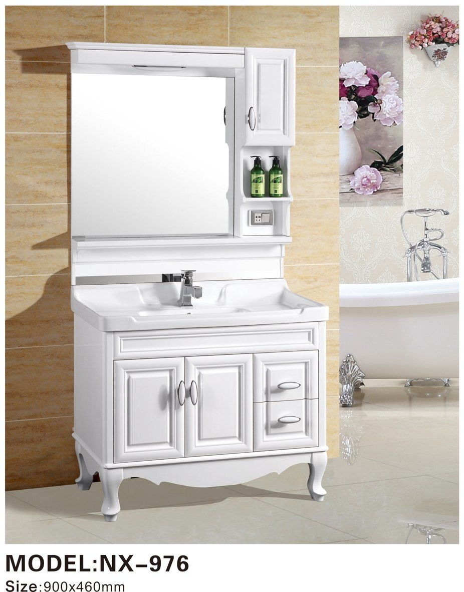 Chinese Factory Lowes Floor Standing Modern Style Plywood Bathroom Vanity Combo Photos Pictures Made In China Com