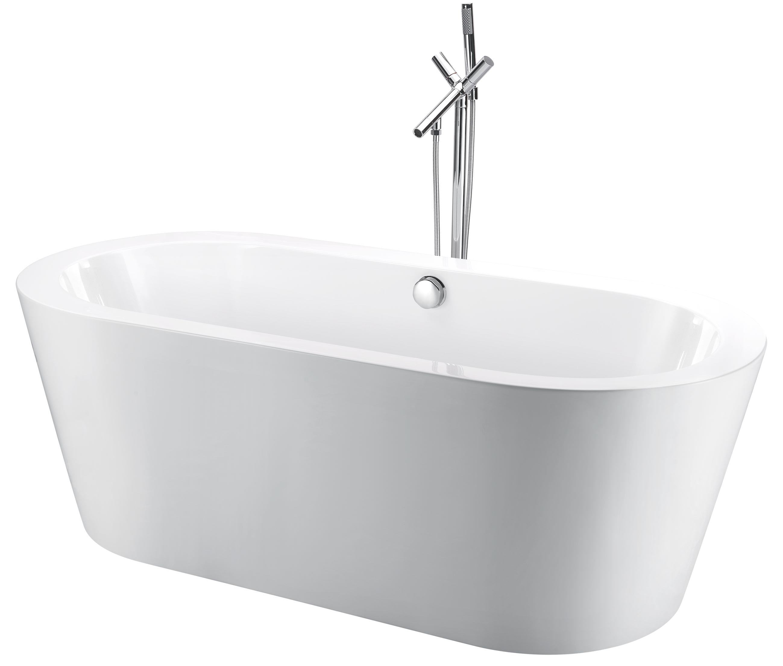 China Small Freestanding Bath Tub with Drainage and Faucet Shower ...
