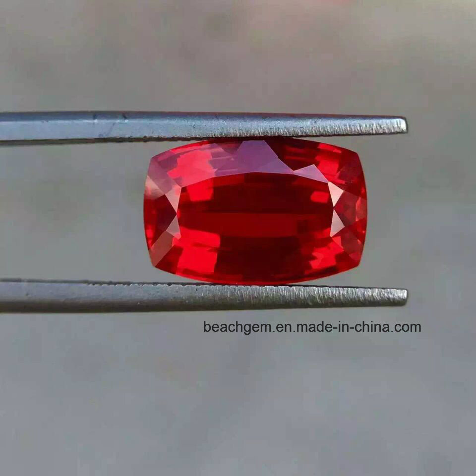China Lab Created Ruby Cushion Loose Gemstones - China