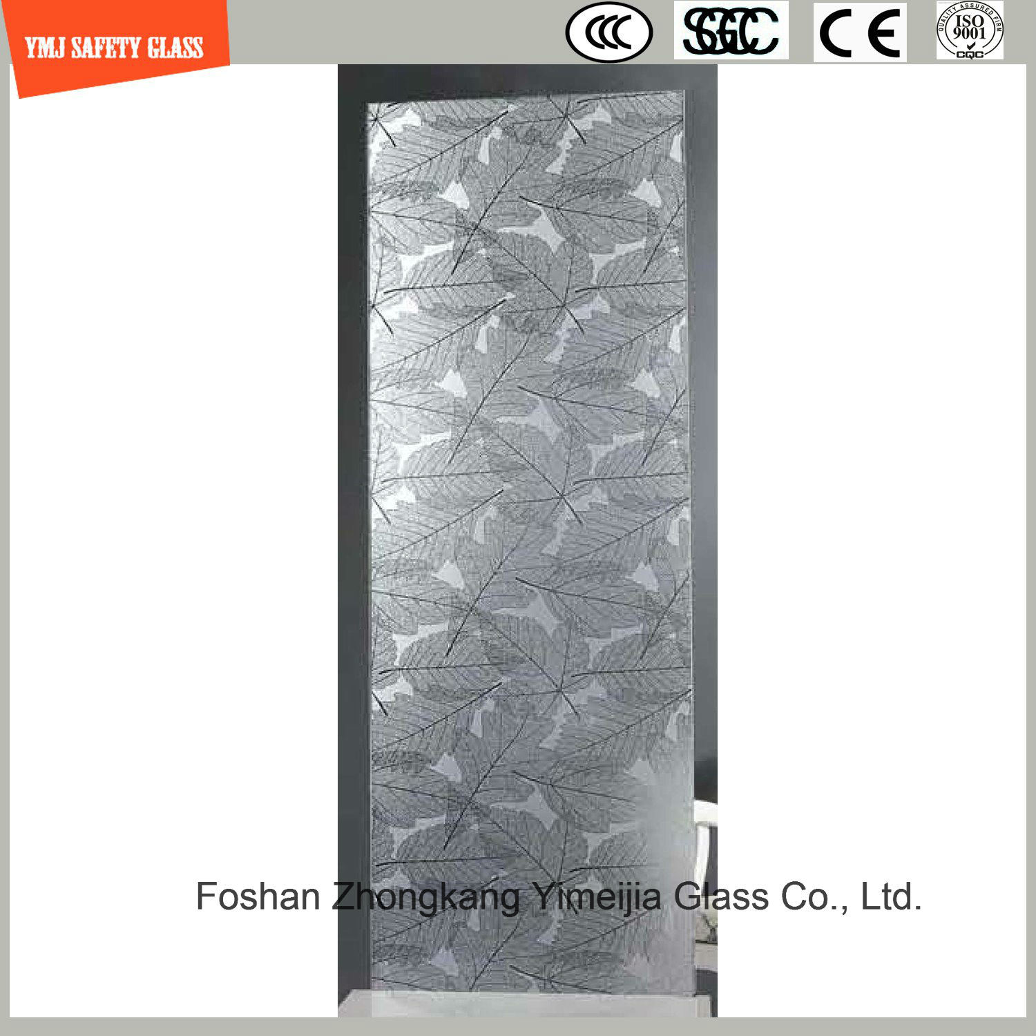 Hot Item 4 19mm Silkscreen Print No Fingerprint Acid Etch Frosted Pattern Safety Tempered Toughened Glass For Door Window Shower Door In Hotel And