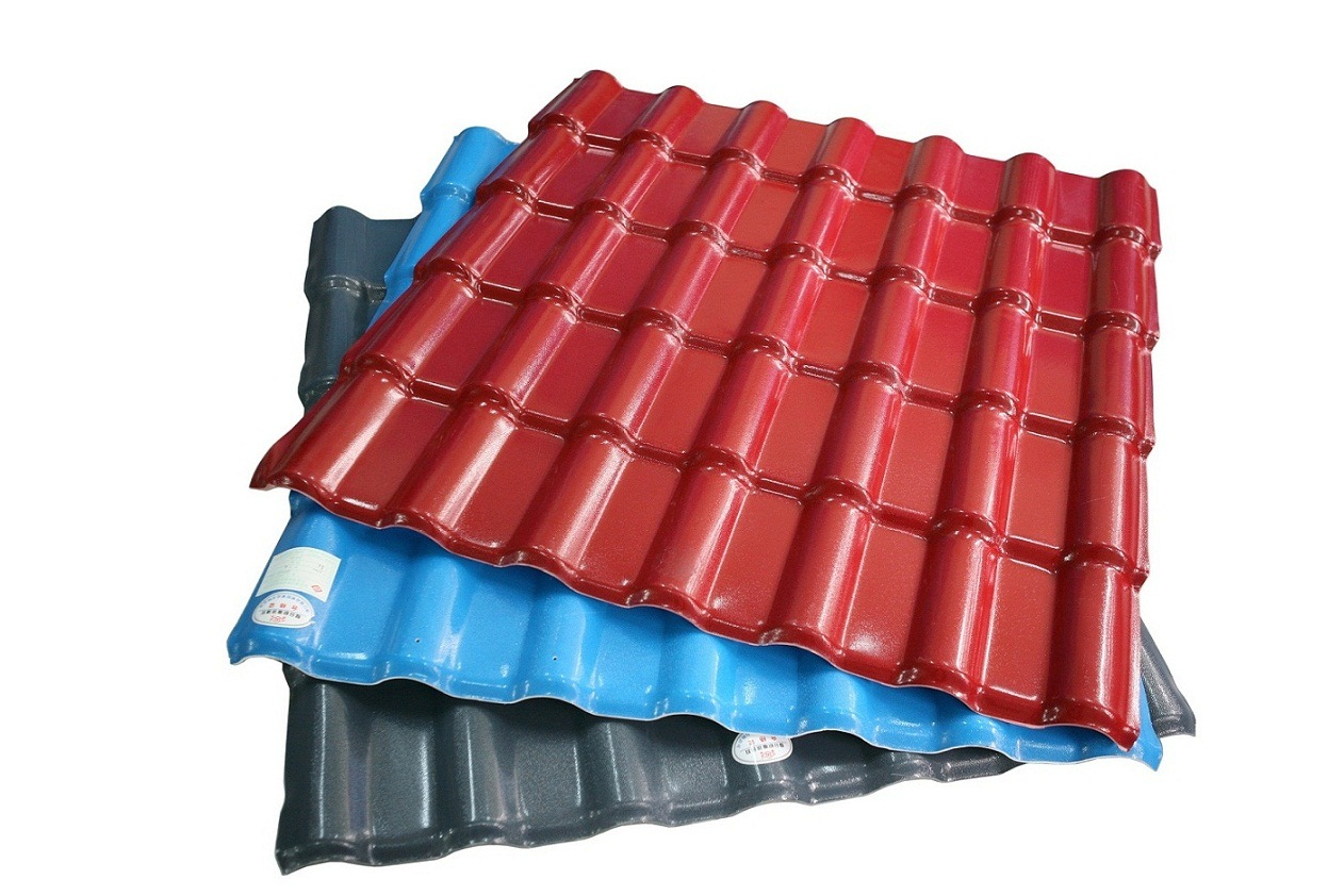 China Corrosion Resistance Corrugated Pvc Asa Roof Tile