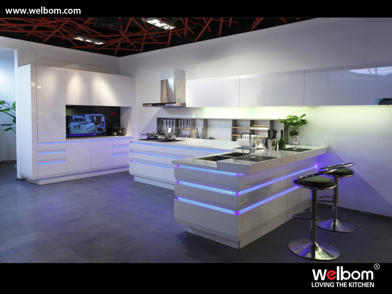 China 2017 Welbom Blum Hardware High Quality Kitchen Design - China ...