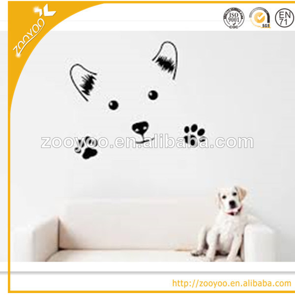 china zooyoo lovely cute dog vinyl wall decal stickers home decor