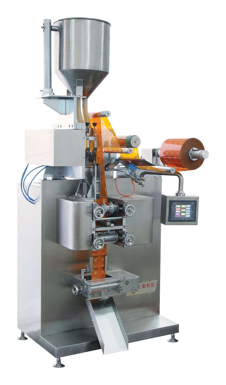 Oatmeal and Coffee Granule Four-Side Sealing & Double-Line Packing Machine